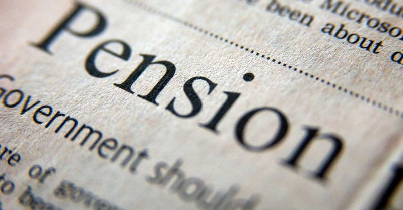 pension in newsprint