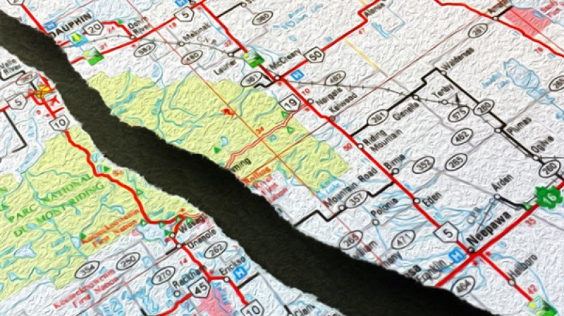tear through rural MB map